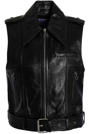ALEXA CHUNG Belted leather vest
