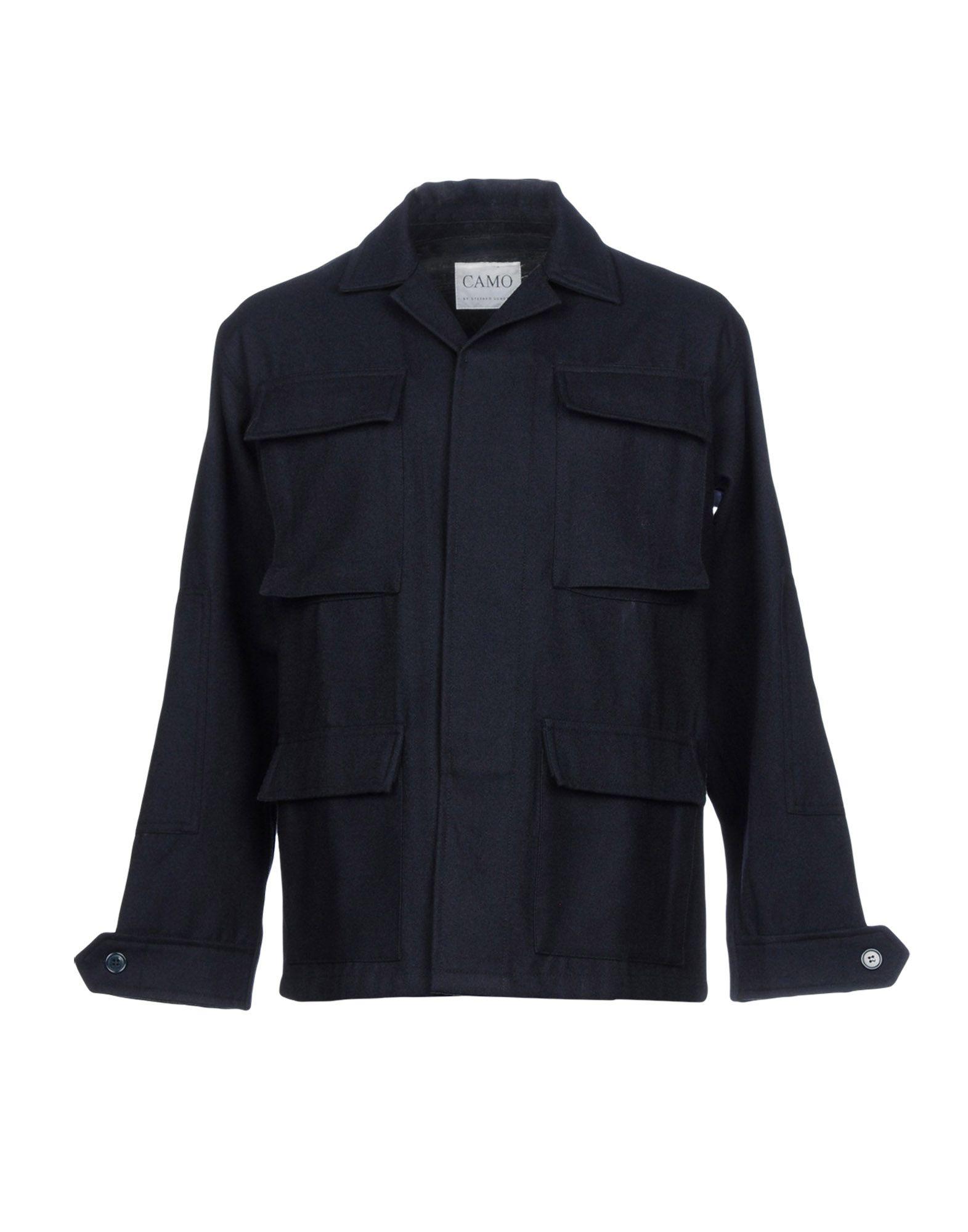 CAMO Пальто camo insert faux fur trim denim jacket