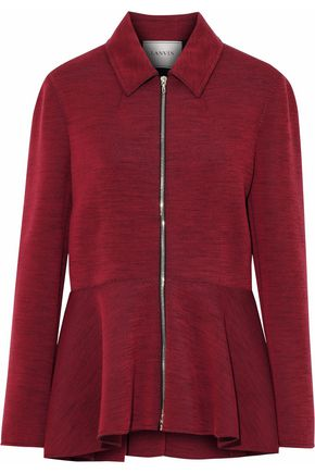 LANVIN Marled wool-blend ponte jacket