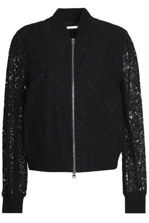 DIANE VON FURSTENBERG Corded lace bomber jacket