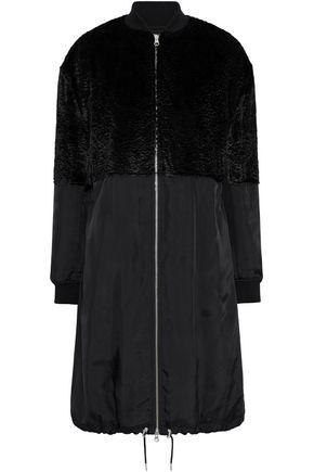 McQ Alexander McQueen Faux fur-paneled shell coat