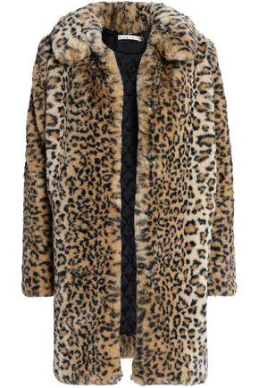 ALICE + OLIVIA Leopard-print faux fur coat