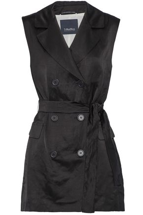 MAX MARA Double-breasted satin vest