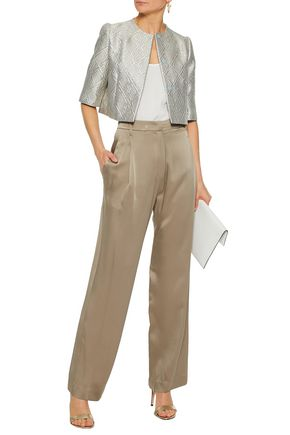 MAX MARA Cropped metallic jacquard jacket