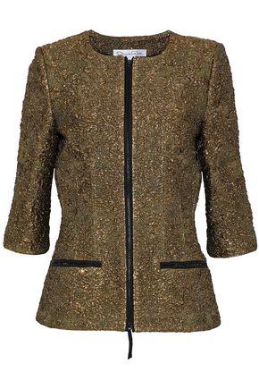 OSCAR DE LA RENTA Metallic cloqué jacket