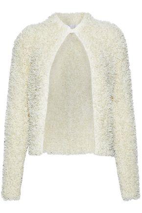 MAX MARA Kurt fringed open-knit jacket