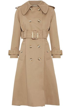 ALEXACHUNG Double-breasted cotton-gabardine trench coat
