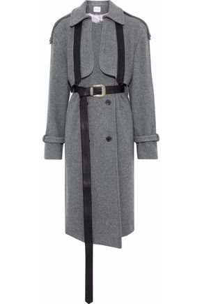 MAGDA BUTRYM Westminster leather-trimmed wool and cashmere-blend felt coat