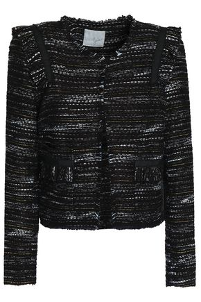 JOIE Perlyn frayed bouclé-tweed jacket