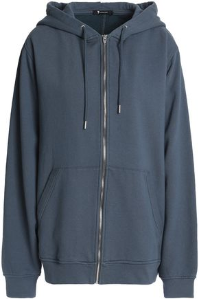 T by ALEXANDER WANG Cotton-terry hooded sweatshirt