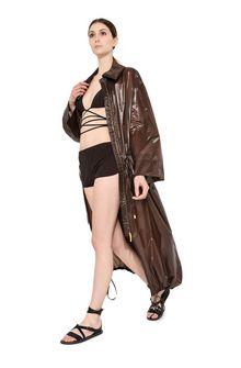 ALBERTA FERRETTI Maxi trench in nylon Long coat Woman a