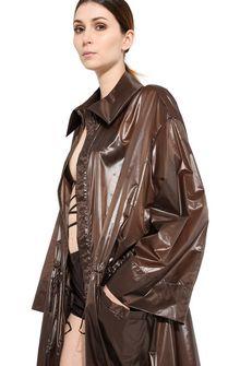 ALBERTA FERRETTI Maxi trench in nylon Long coat Woman d