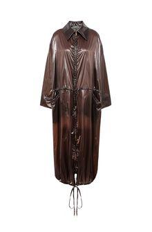 ALBERTA FERRETTI Maxi trench in nylon Long coat Woman e