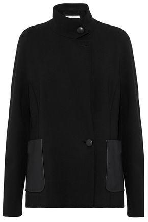 MAX MARA Agreste leather-paneled wool-blend jacket
