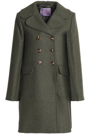 ALEXACHUNG Double-breasted wool-blend coat