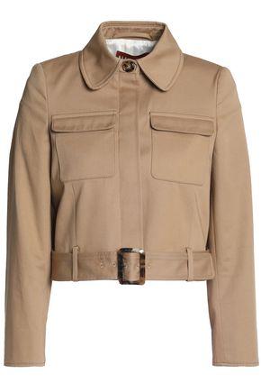 ALEXA CHUNG Belted cotton-gabardine jacket