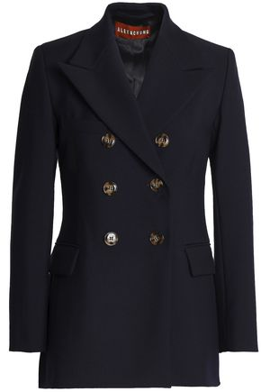 ALEXACHUNG Double-breasted wool-twill jacket