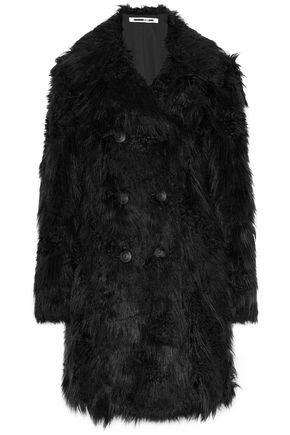 McQ Alexander McQueen Double-breasted faux fur coat