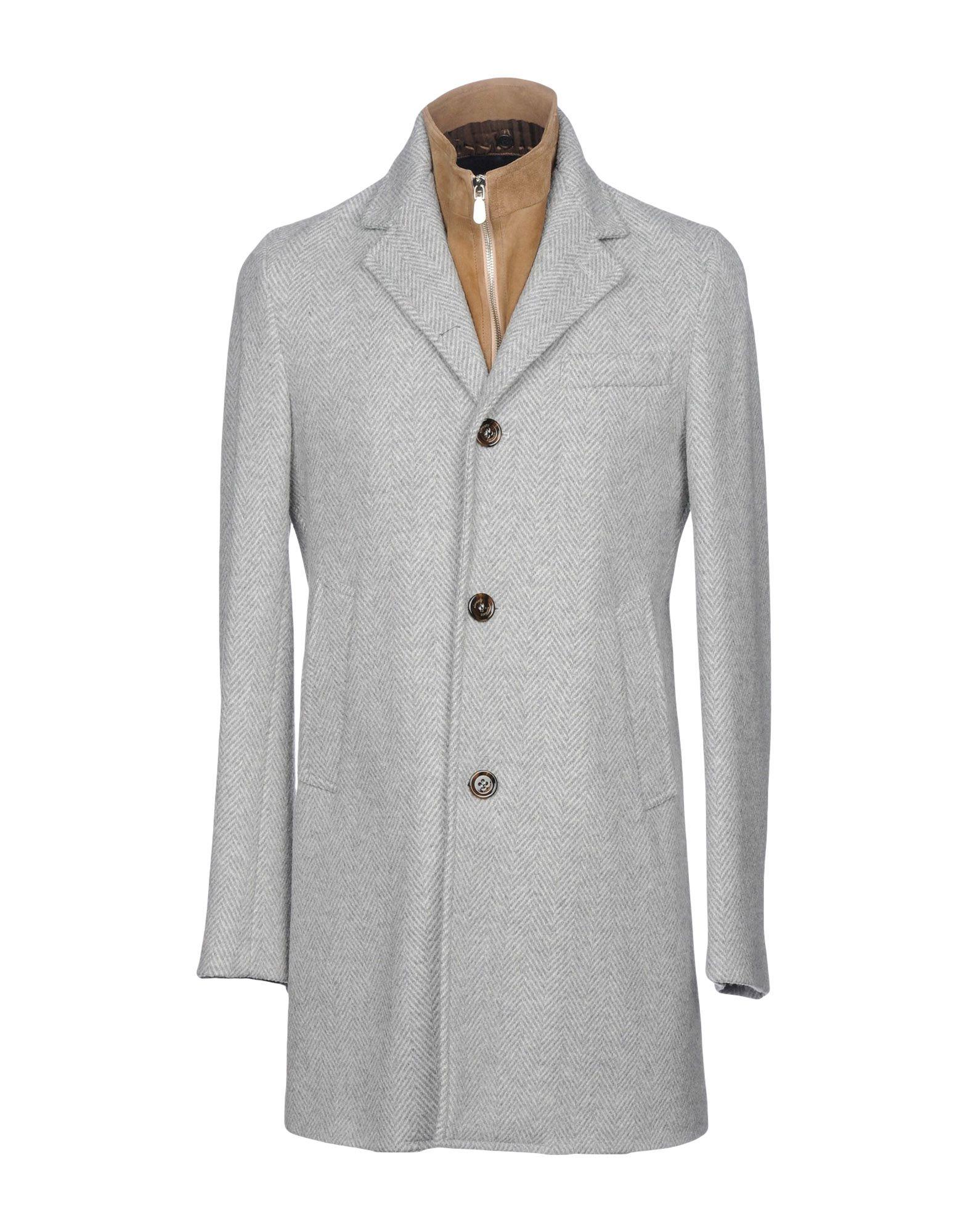 《送料無料》ELEVENTY メンズ コート ライトグレー 50 62% バージンウール 32% ナイロン 6% アクリル