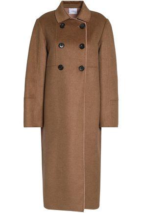 AGNONA Silk and cashmere-blend coat