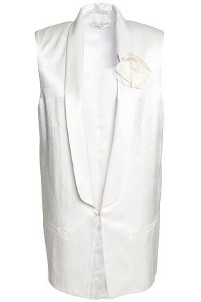 LANVIN Floral-appliquéd satin vest
