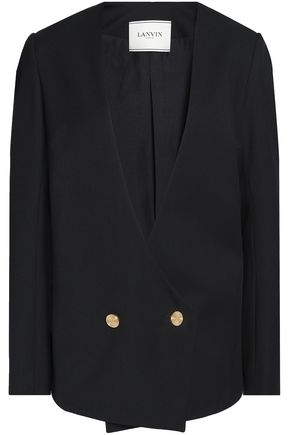 LANVIN Double-breasted wool-twill blazer