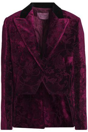 LANVIN Velvet-jacquard blazer