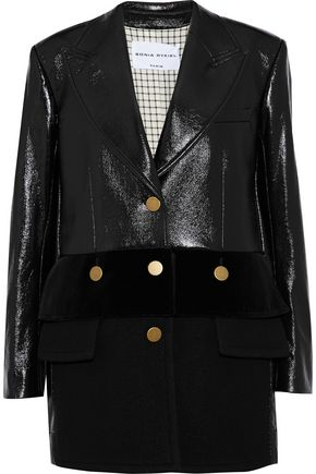 SONIA RYKIEL Wool-paneled coated cotton-blend coat