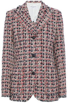 SONIA RYKIEL Frayed cotton-blend tweed blazer