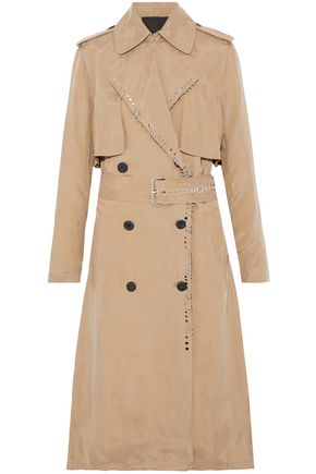 ALEXANDER WANG Studded gabardine trench coat