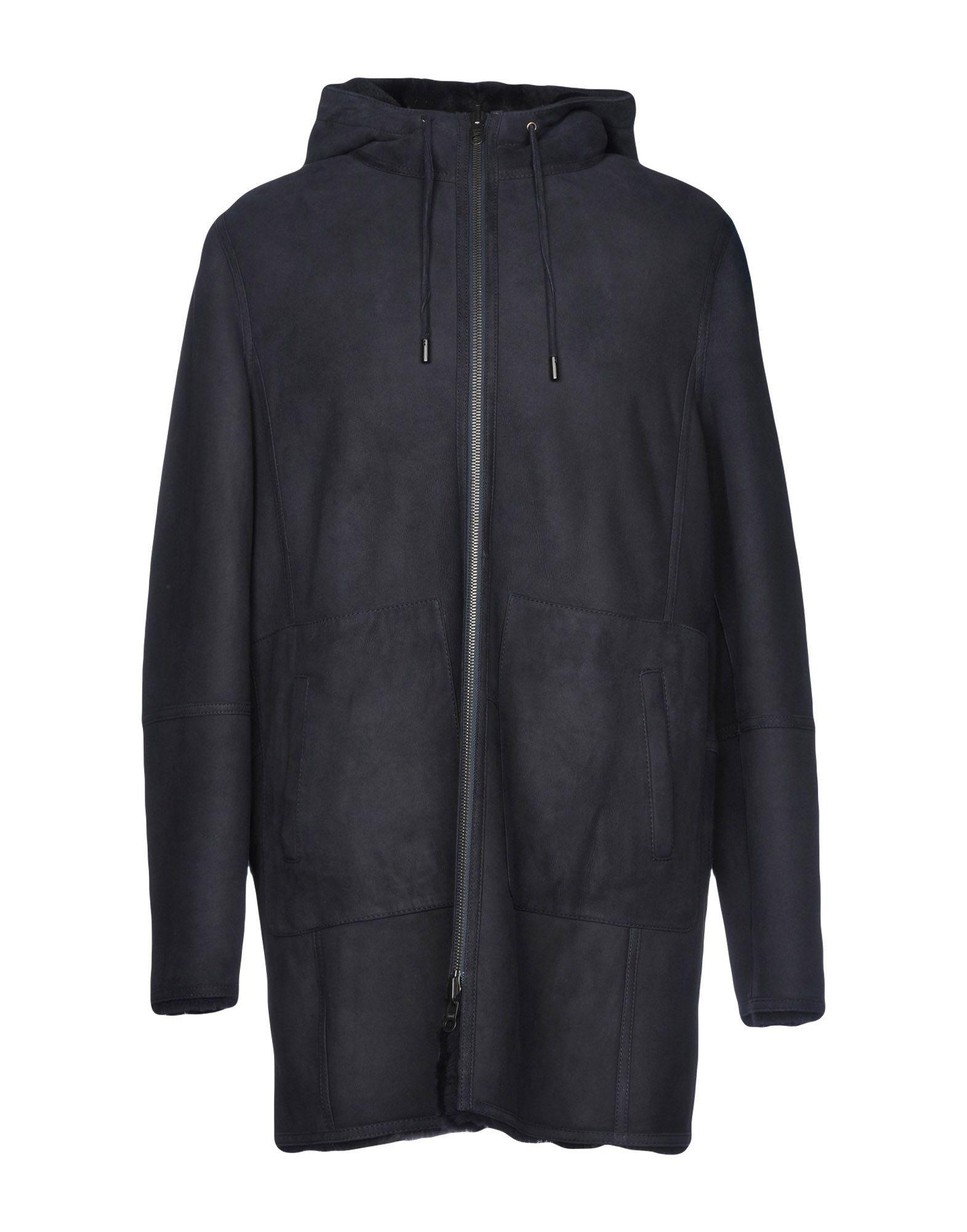 《送料無料》DESA NINETEENSEVENTYTWO メンズ コート ダークブルー 58 羊革(ラムスキン) 100%