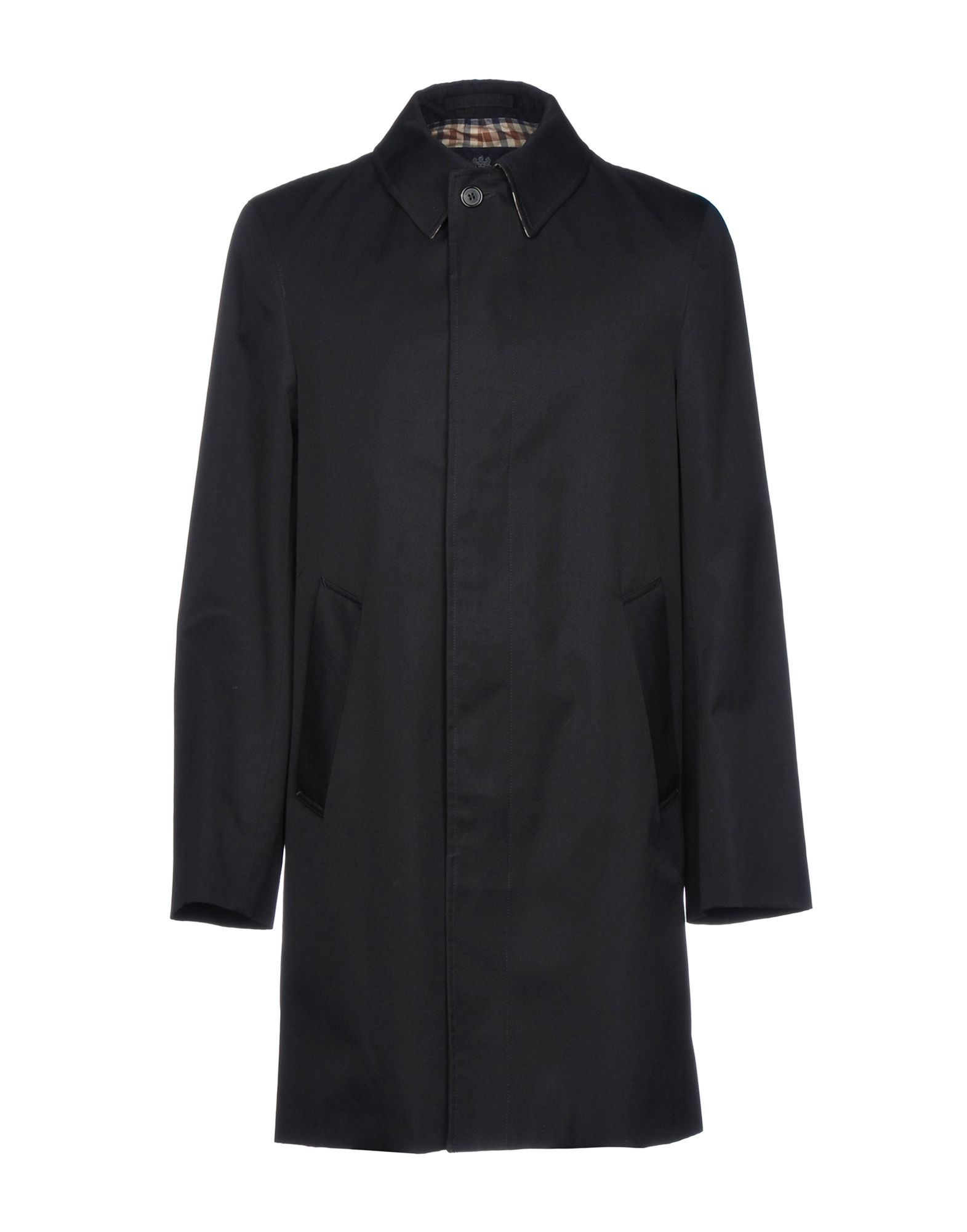 AQUASCUTUM Full-Length Jacket in Dark Blue