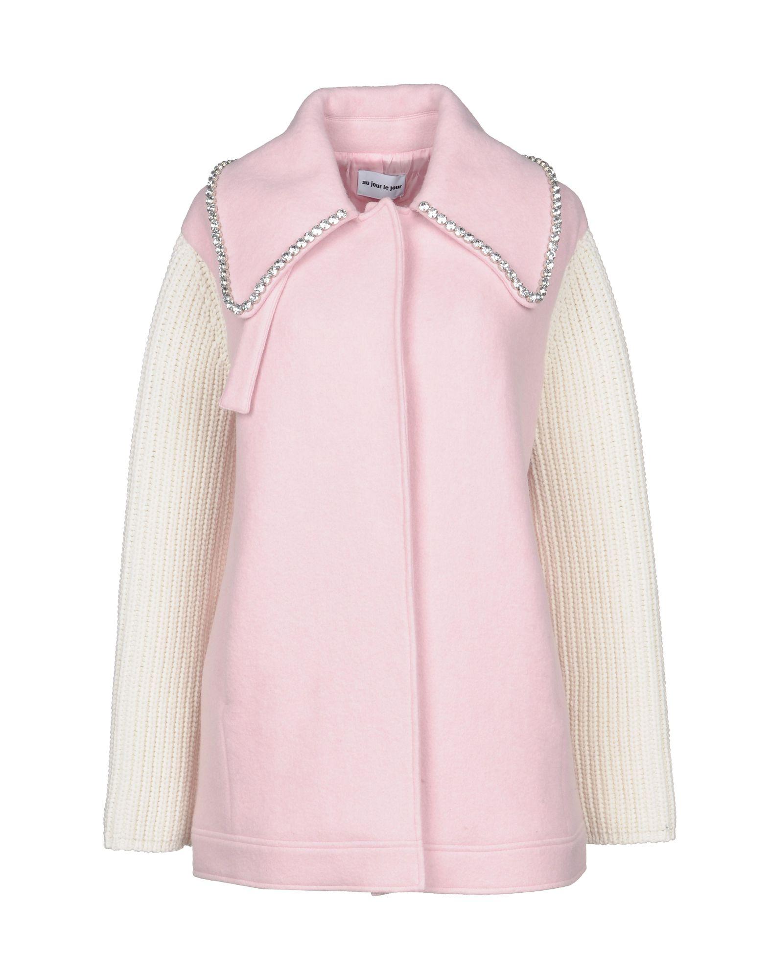 AU JOUR LE JOUR Coat in Pink