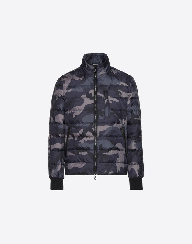 CAMOUFLAGE PRINT DOWN COAT