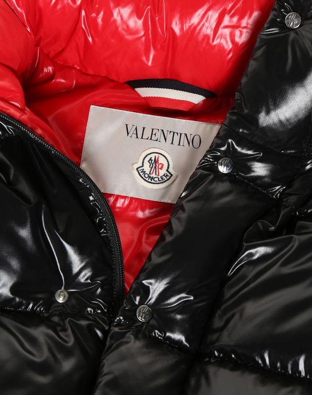 MONCLER MAXI VLTN QUILTED DOWN COAT