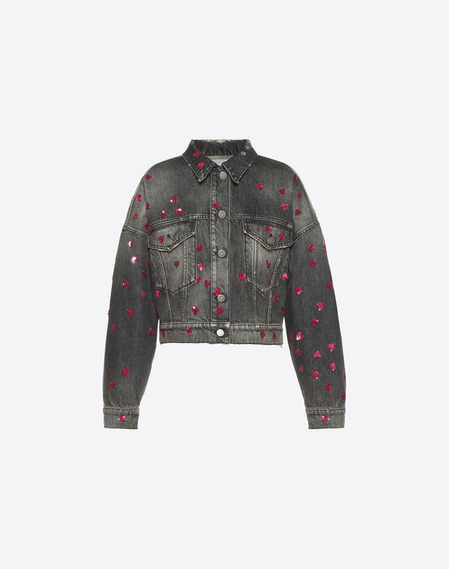 Pretty Hearts embroidered jacket