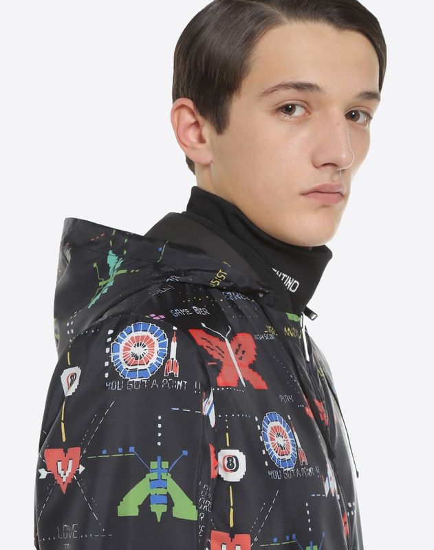 Videogames Arcade reversible waterproof jacket