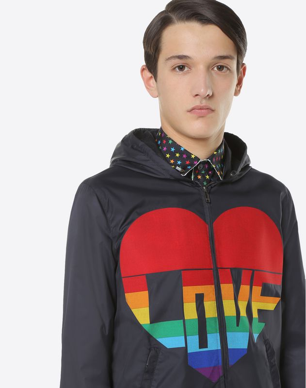 Nylon Love & Stars windbreaker