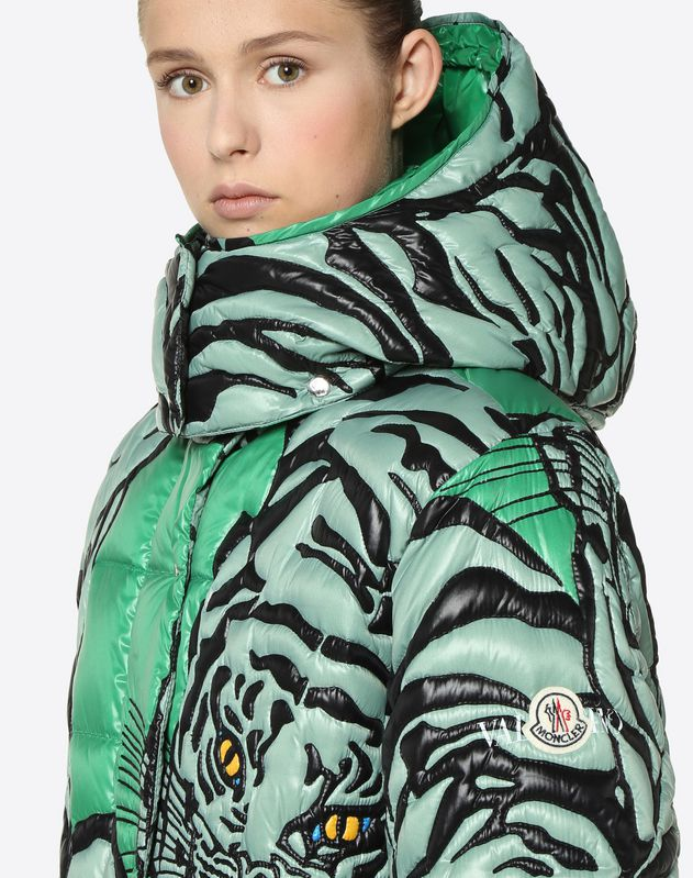 MONCLER EMBROIDERED TIGER RE-EDITION QUILTED DOWN COAT