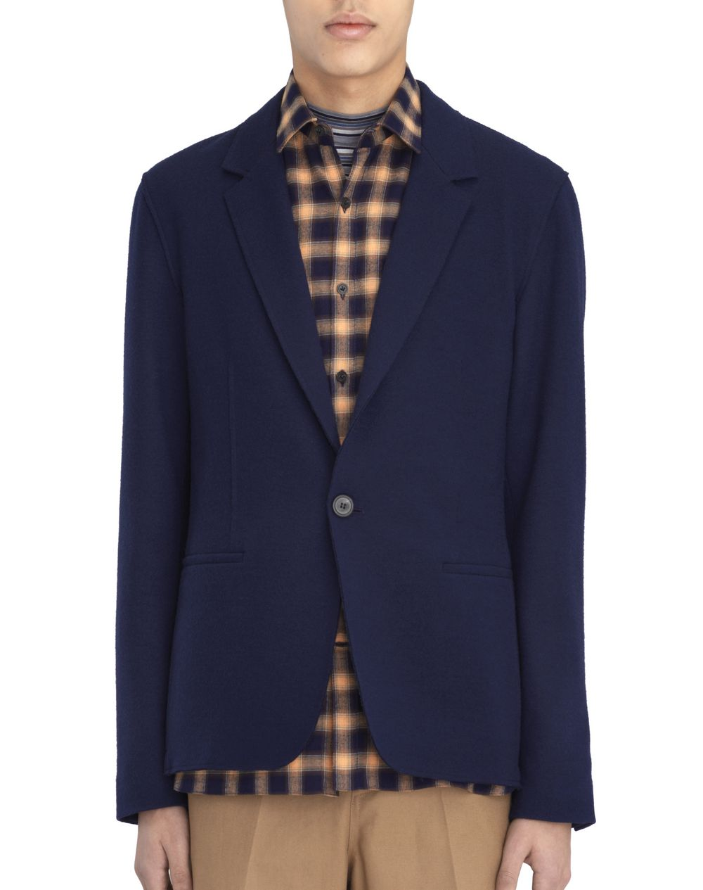 BLUE DECONSTRUCTED JACKET - Lanvin