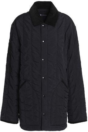 T by ALEXANDER WANG Velvet-trimmed shell jacket