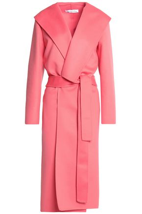 OSCAR DE LA RENTA Belted wool and cashmere-blend coat