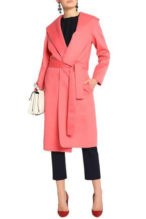 OSCAR DE LA RENTA Belted wool and cashmere-blend coat