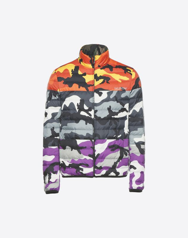 Reversible Camoushuffle down coat