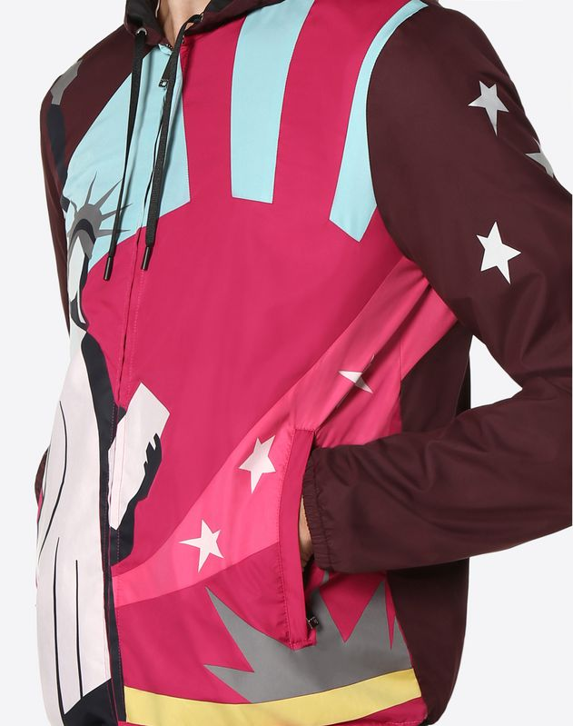 Camou Cities nylon windbreaker