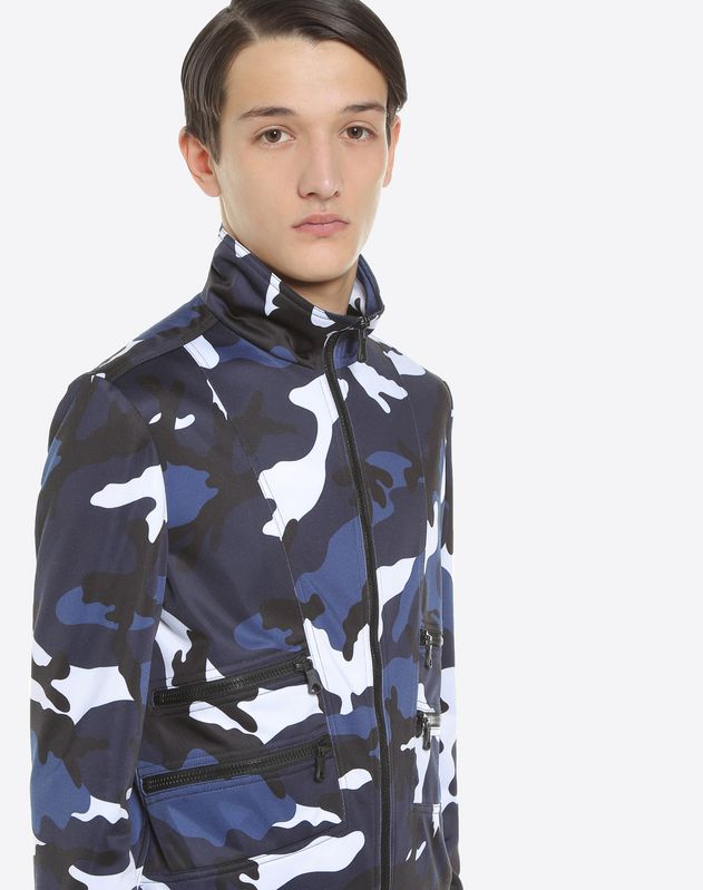 Blouson in jersey camouflage