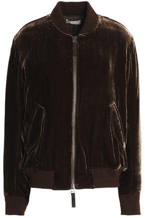 VINCE. Velvet bomber jacket