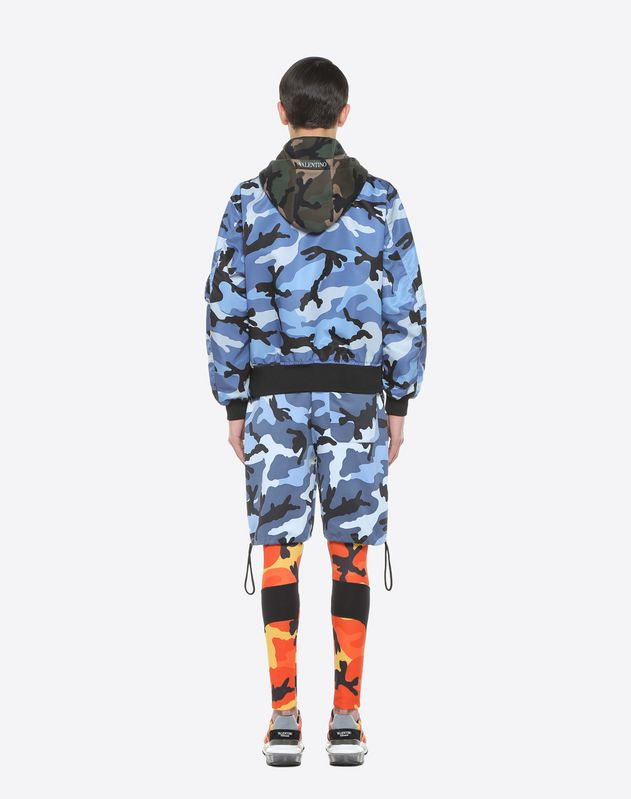 Bomberjacke mit Camouflage-Muster