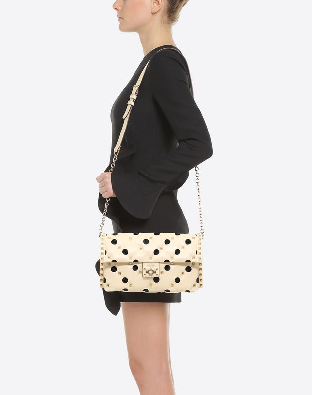Polka Dot Candystud Shoulder Bag