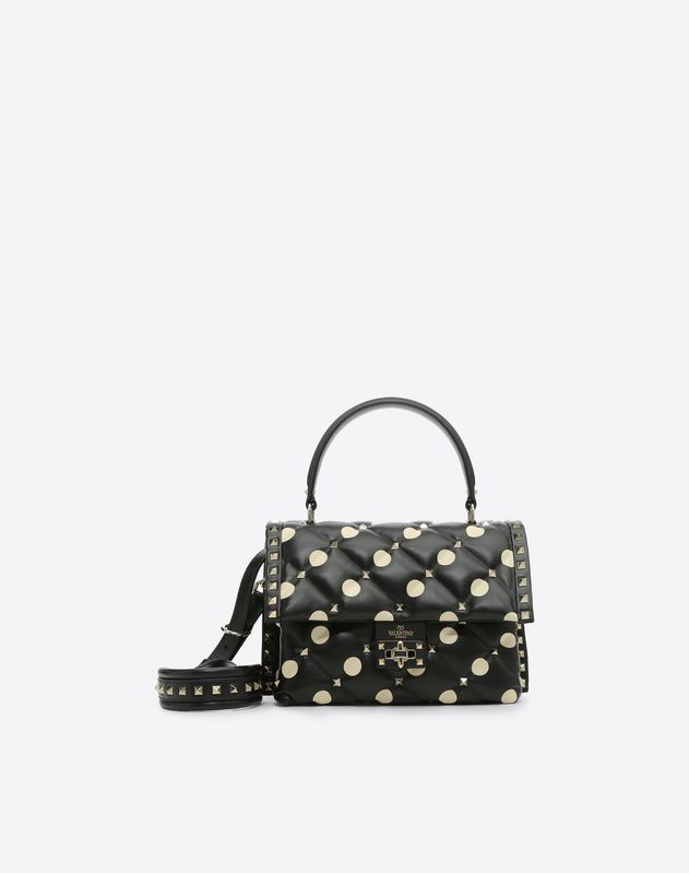Polka Dot Candystud Top Handle Bag
